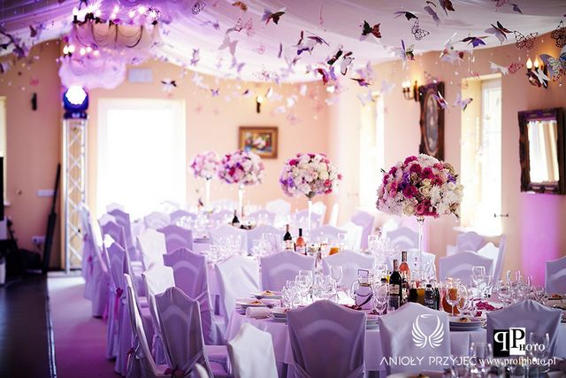 Butterfly Wedding,Pomanders,Purple butterfly,Centerpieces,Architectural light/Motylowe wesele,Fioletowe motyle,Dekoracje weselne,Oświetlenie architektoniczne,Anioły Przyjęć