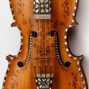 Hardanger fiddle, K. E. Helland, 1872, probably Telemark, Norway. Museum no. 155