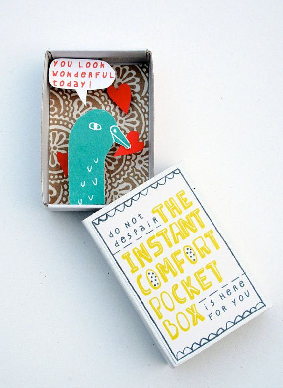 The Instant Comfort Pocket Box - bird in love