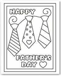 Print a card to color for Fathers Day! -  Pink Pad, the women's health mobile app with the built-in community