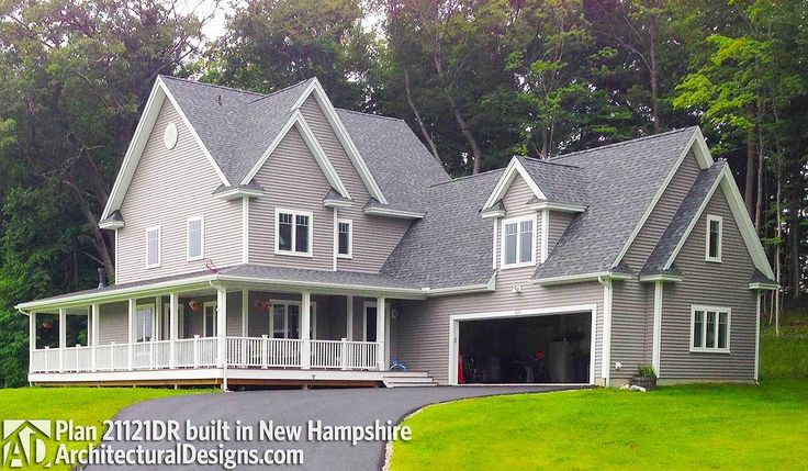 Farmhouse Plan With Wraparound Porch - 21121DR | Architectural Designs - House Plans