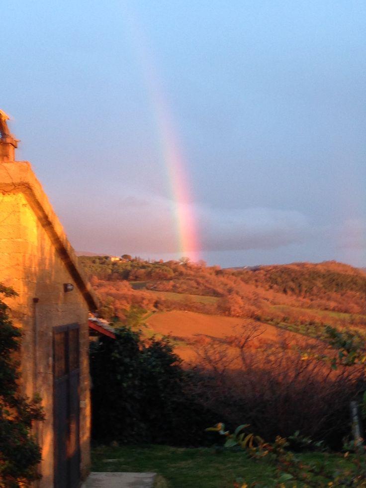 L'arcobaleno beneaugurante all'inizio del 2014
