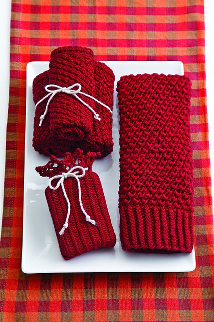 Ravelry: Home Spa Set pattern by Jeanne Giles