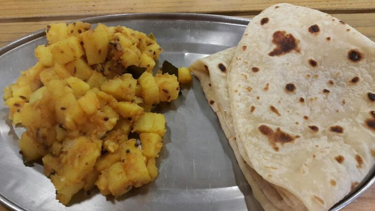 Namaste Cape Town pure veg Indian street food. HERE THE FOOD TASTES LIKE Y HAVE IT AT HOME : Alu fry and roti