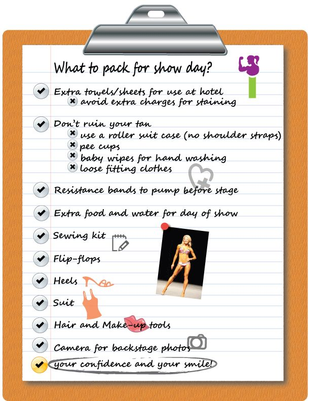 Sisters In Shape   Competition Show Day Checklist