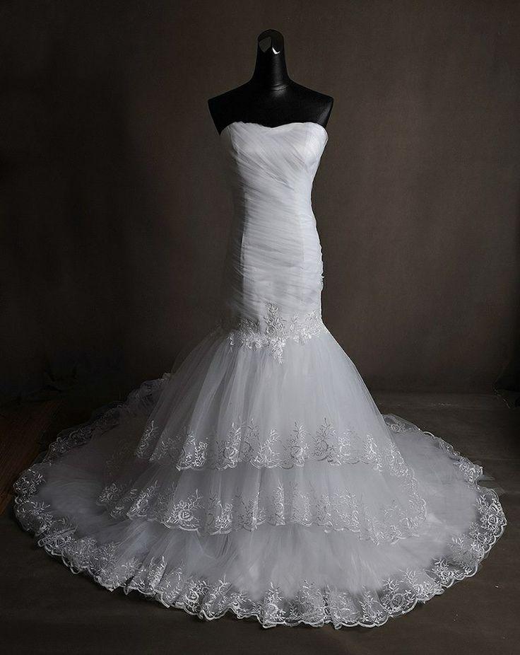 new style mermaid wedding dress-nuovo modello abito da sposa a sirena