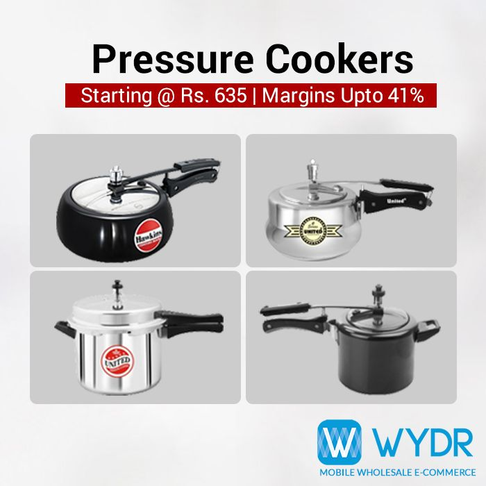 #Retailers, source pressure cookers from #Wydr Wholesale E-Commerce App. Get wide range of products by leading brands like Hawkins & Prestige at best prices.