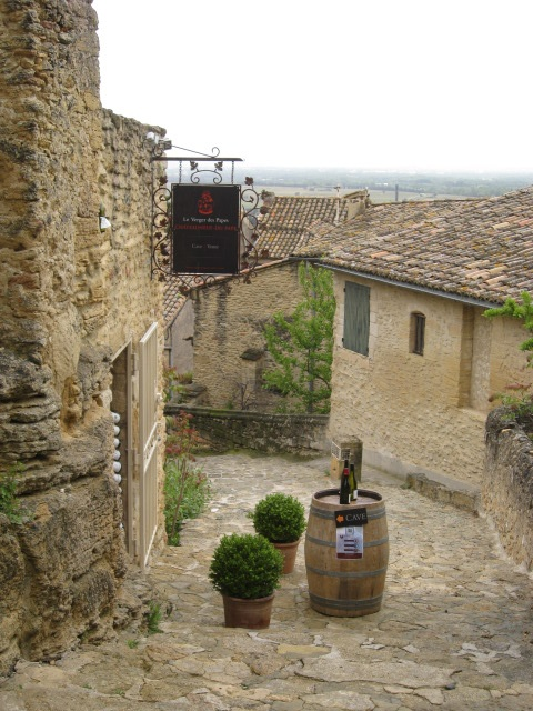 Wine tasting in Chateauneuf de Pape.