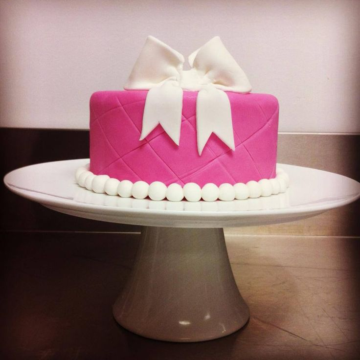 Pink Bow Cake by Alana Rose Cakes