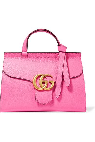 Pink textured-leather (Calf) Push lock-fastening front flap Designer color: Pink Tropical Comes with dust bag Weighs approximately 3.1lbs/ 1.4kg Made in Italy