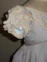 Palest lilac silk crepe Regency dress circa 1815-23