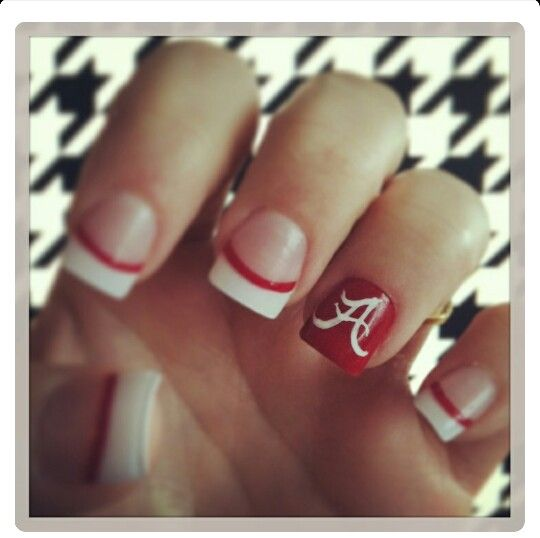 Roll tide. Alabama Football NailsAlabama ... - 30 Best Bama Nails Images On Pinterest Alabama Nails, Roll Tide