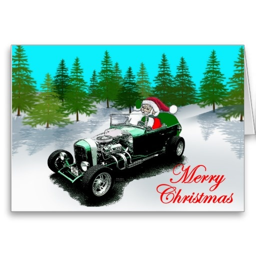 18 Best Hot Rod Christmas Cards Images On Pinterest