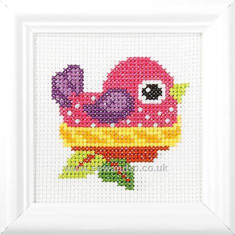 Bird in Her Nest Cross Stitch Kit