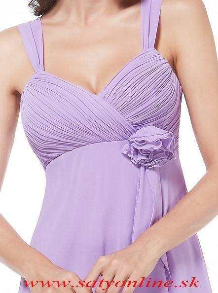 Svetlo fialové krátke spoločenské šaty Ever Pretty Style 3266