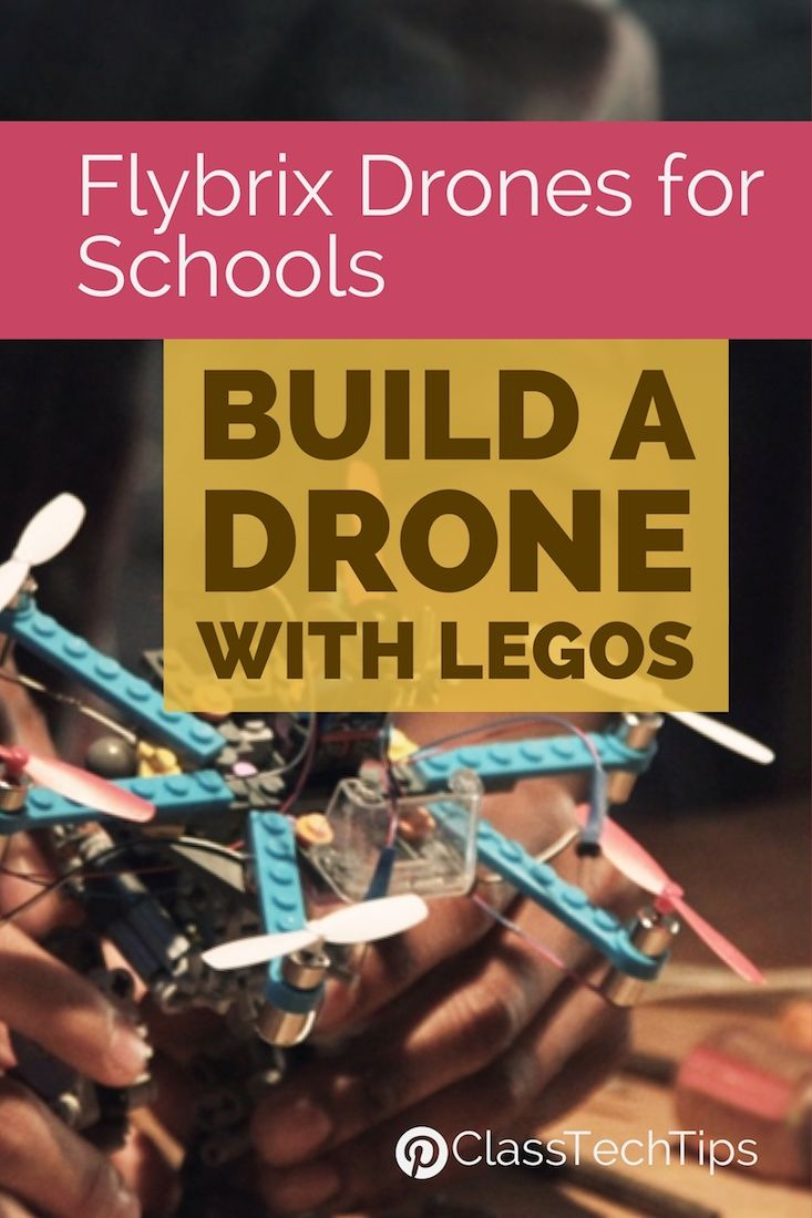 """Flybrix Drones for Schools: Build a Drone with Legos - It's very easy to customize and the starter guide includes different types of configurations you can make depending on which Lego blocks you decide to include. I love the idea that there isn't """"one right way"""" to build a Flybrix drone and students can work though different iterations as they create their drone."""
