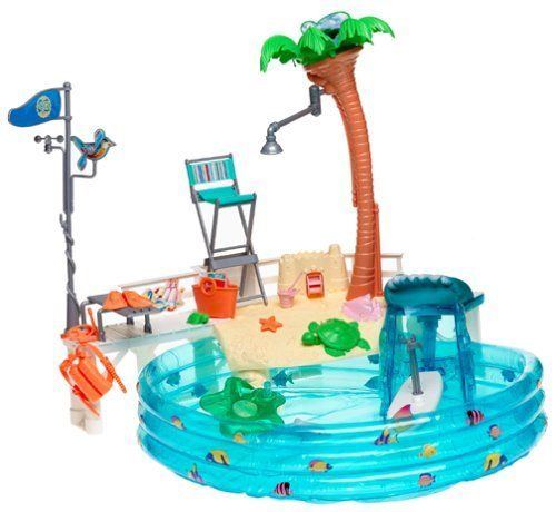 Barbie Cali Girl Pool Playset By Mattel Barbie 39 S Cali Girl Pool Playset Including A
