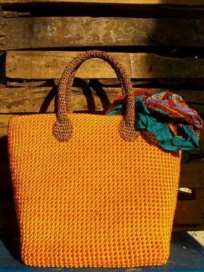 Chinese Knoting Cord crochet bag