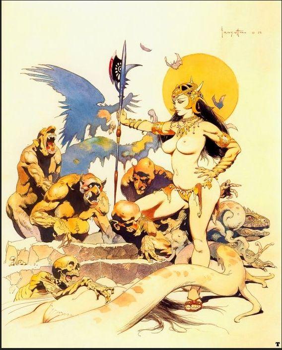 FRANK FRAZETTA - Goblin Queen