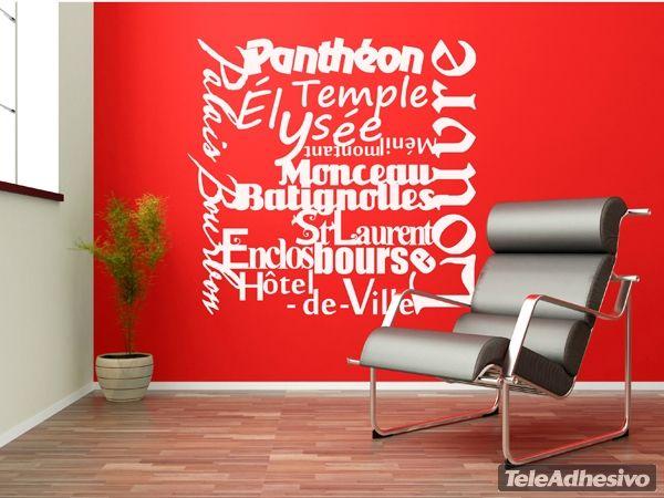 Stickers muraux Paris Mon Amour