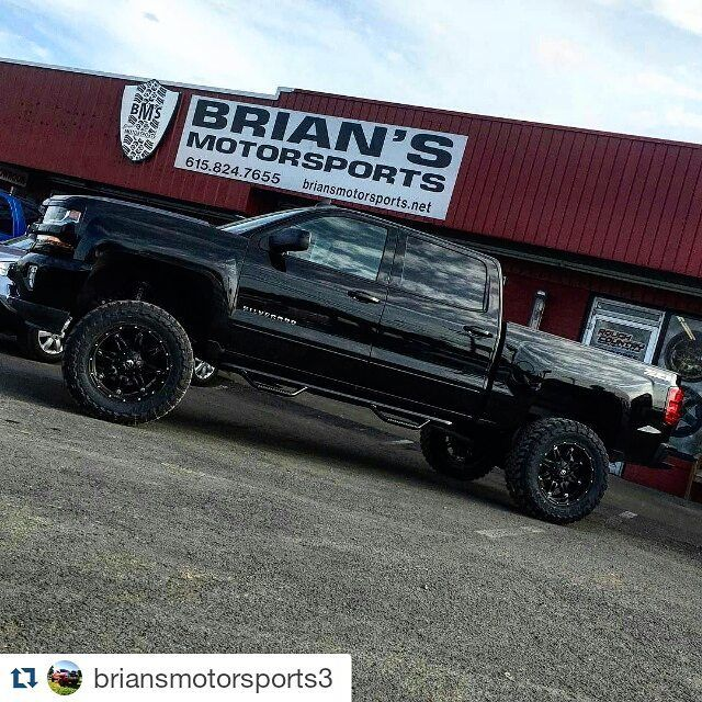 #Repost @briansmotorsports3  I like these new 2016 Chevy half tons!  Black out murder is  #bms #roughcountry #chevy #1500 #fuel #hostage #fueloffroad #toyotires #toyomt #nfab #twitter
