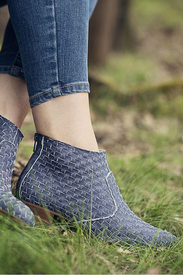 Botki Niebieskie Damskie Plecione Chloe Bi0058 10 Boots Ankle Boot Fashion