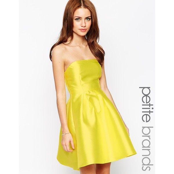 True Decadence Petite Strapless Satin Prom Dress ($39) ❤ liked on Polyvore