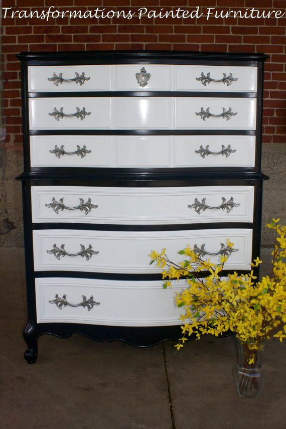 Painted dresser french provincial furniture by - Painted french provincial bedroom furniture ...