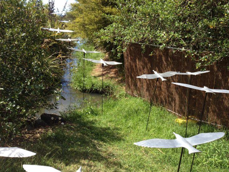 Birds in flight on the Harbourview Sculpture Trail #sculpture #evoluskincare