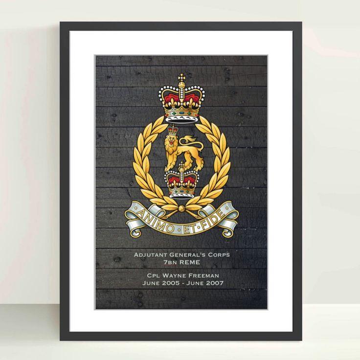 Adjutant generals corps agc personalised poster
