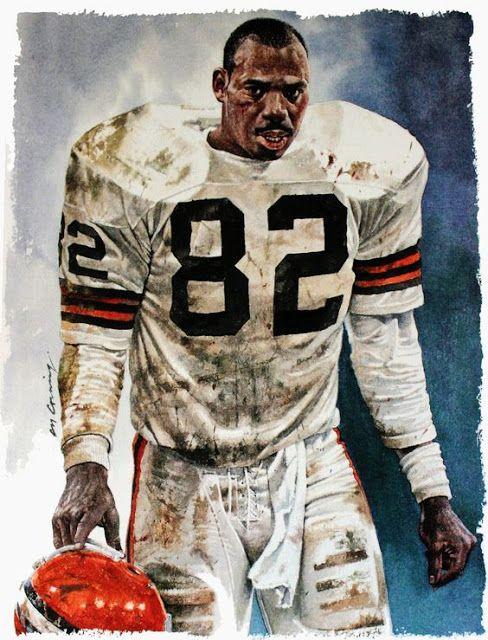 Cleveland Browns Tight End Ozzie Newsome by Merv Corning Pro Football Journal Presents: NFL Art: Merv Corning