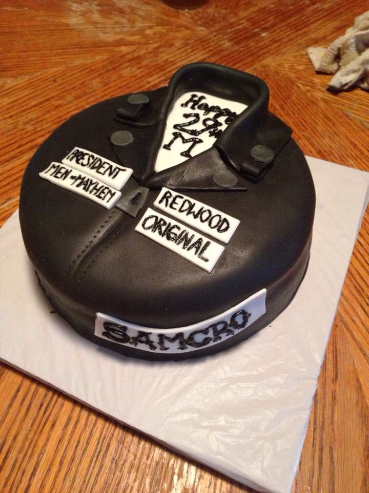 Sons of Anarchy cake | Cake ideas | Pinterest