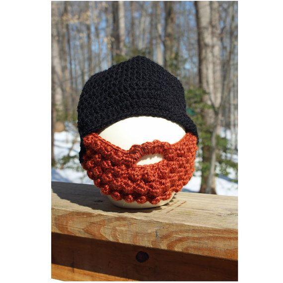 Bearded Boys Hat Crochet Beard Hat Boy Beanie Hat Childs by OyoPOP