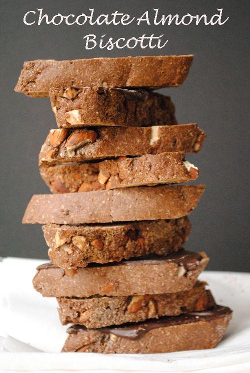 Chocolate Almond Biscotti, Italian Style (and whole wheat too)! @garlicgirlblog