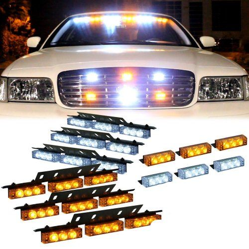 Amazing  X Led W X Led Emergency Vehicle Strobe Lights For Front Grille Deck
