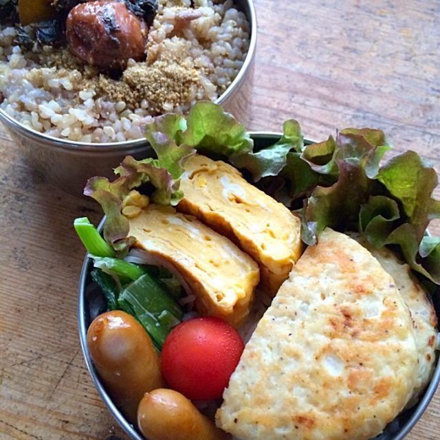 メインは豆腐とオカラのハンバーグ‼︎電子レンジでスチーム加熱して油OFF♬ ご飯はいつもの雑穀玄米‼︎ - 100件のもぐもぐ - 今日のお弁当‼︎ 3 June by giacometti1901
