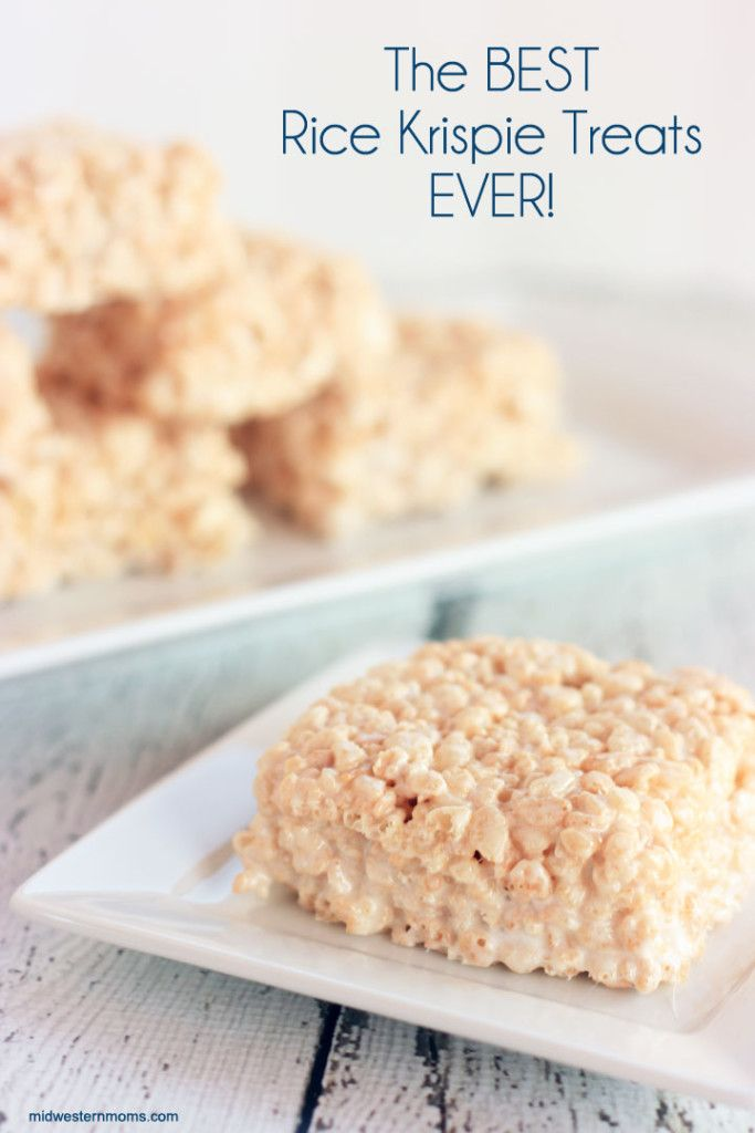 The BEST Rice Krispie Treat recipe EVER! This recipe makes your treats into ooey gooey goodness! You will never make the original recipe again!