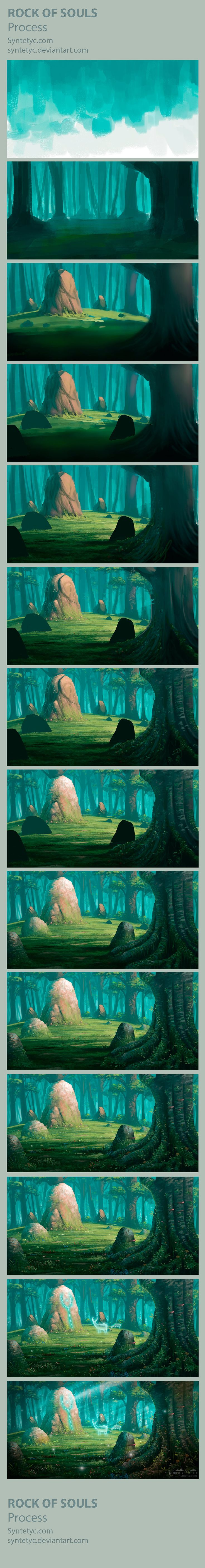 The Rock of Souls - PROCESS by Syntetyc on DeviantArt via cgpin.com