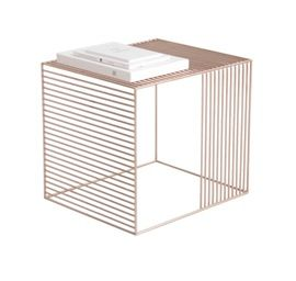Wire Table, Plated  Contemporary, MidCentury  Modern, Metal, End Table by Iacoli  Mc Allister