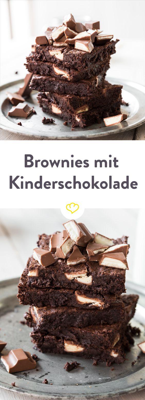 Wenn Milch auf Schokolade trifft … Brownies mit kinder Riegel