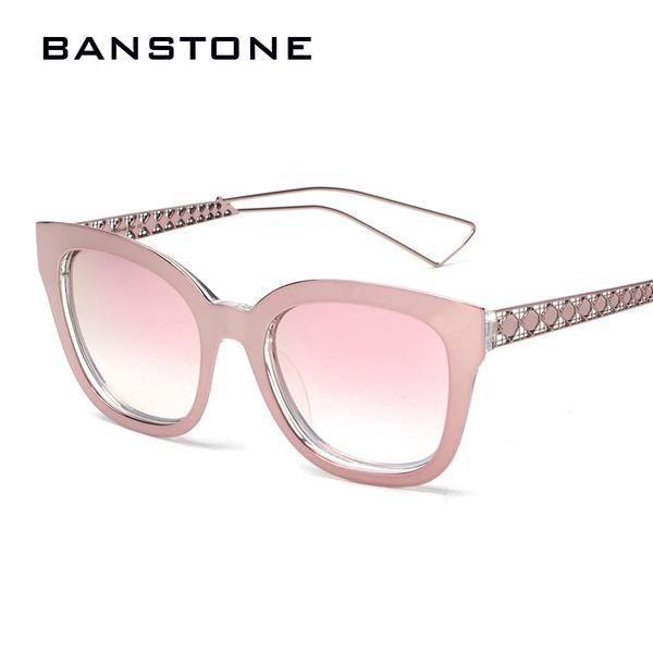 11f757f944c FuzWeb BANSTONE Square Sunglasses Womens Mirror Steampunk Goggles Rose Gold  Sunglasses Oculos Vintage