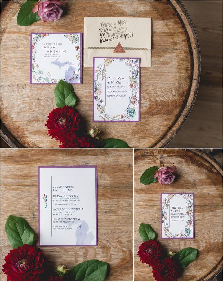 Leelanau school wedding invitations