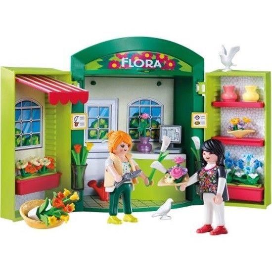 Playmobil Flower Shop Play Box 2 Figures Flowers Vases Basket Window Boxes More #Playmobil
