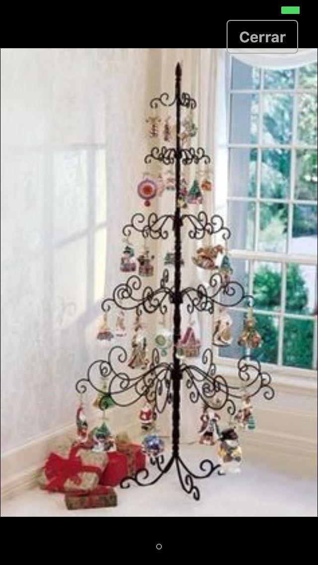 Mini Metal Ornament Tree