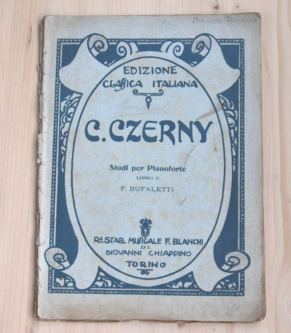 Printed music sheet music C.Zerny  Etudes for by LuanaEgleVintage, $50.00