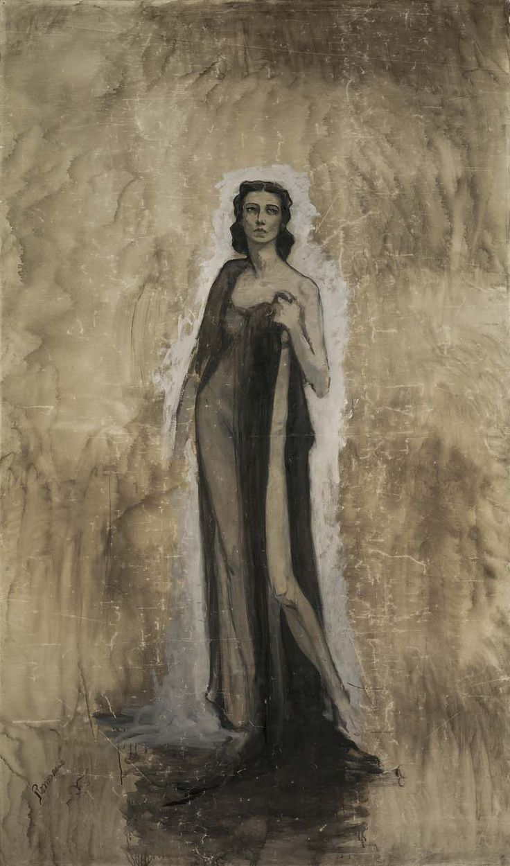 romaine brooks paintings | Esquisse d'Ida Rubinstein by Romaine Brooks / American Art
