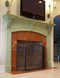 1000 Images About Painted Fireplace Mantel Ideas On