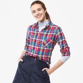 Women Flannel Check Long Sleeve Shirt - Shop for women's Shirt - PINK_12 Shirt