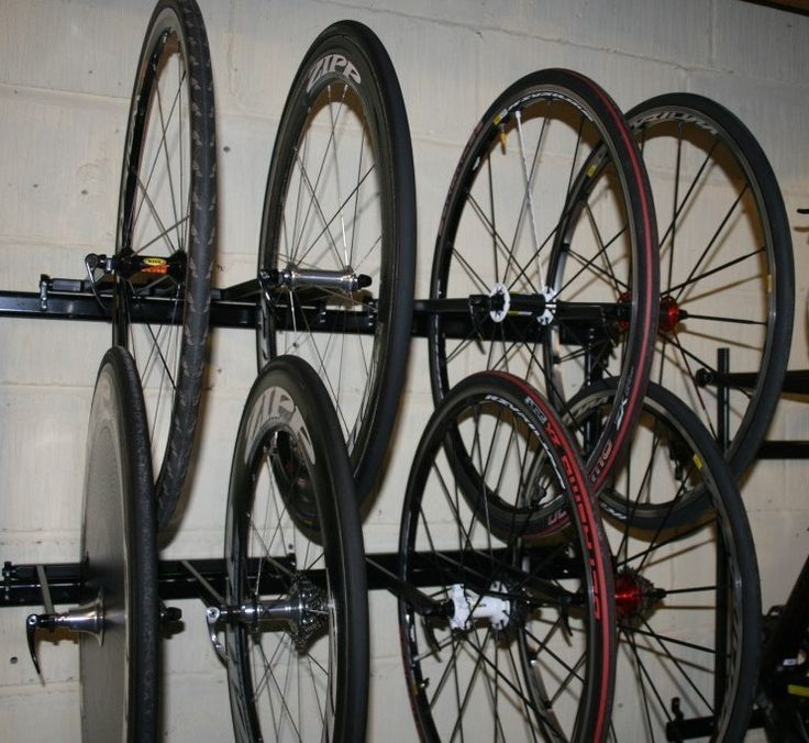 12 Bike Wheel Storage Rack http://www.procyclestorage.co.uk/product/12-bike-wheel-storage-rack/