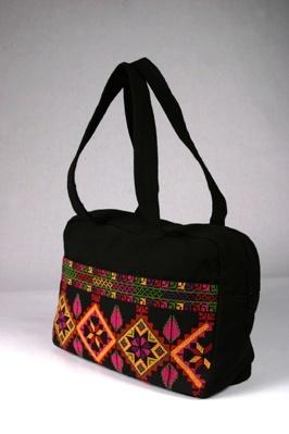 حقيبة مطرزة تطريز فلاحي فلسطيني Palestinian embroidery